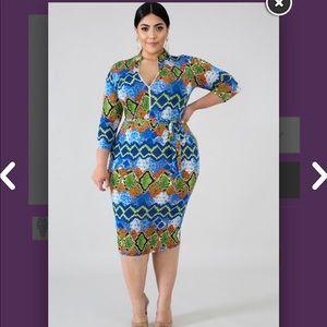 Beautiful Snake Print Dress